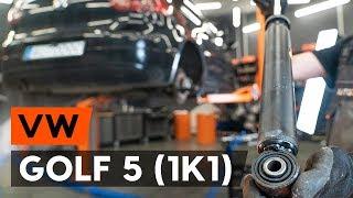 Wymiana Amortyzatory przednie i tylne VW GOLF V (1K1) - wideo instrukcje