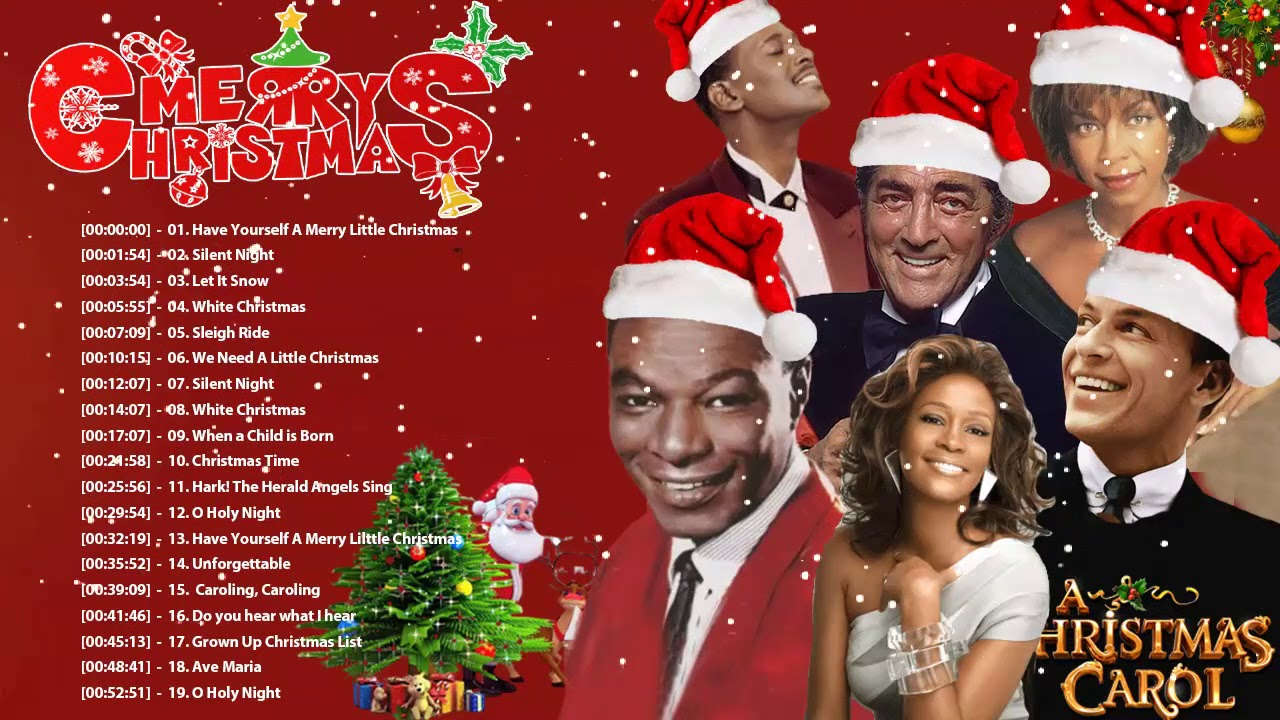 Frank Sinatra Dean Martin Nat King Cole Natalie Cole Christmas Songs Old Classic Christmas Songs Youtube