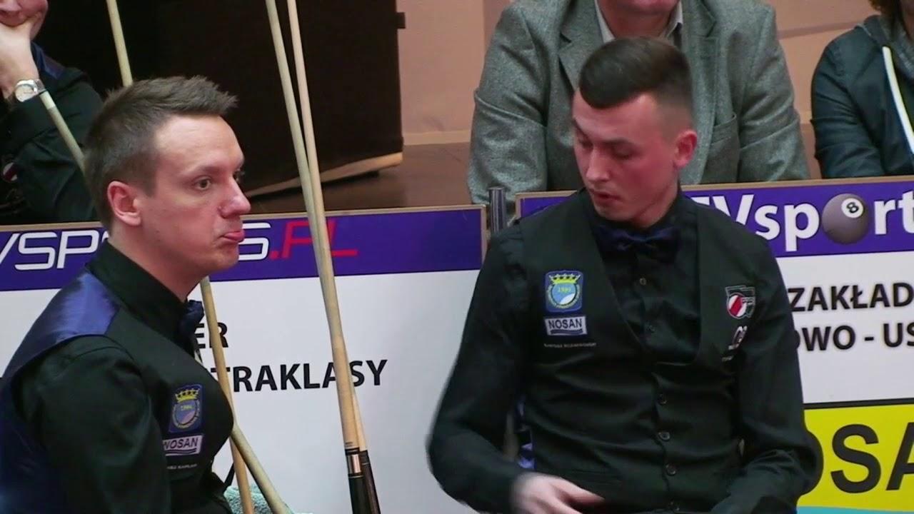 Bilardowa Ekstraklasa PZBil 2017 Nosan Kielce vs ERG Folie Bieruń