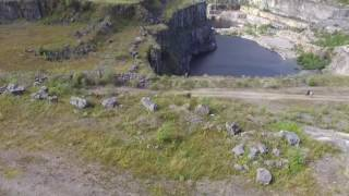 wirksworth quarry derbyshire by drone