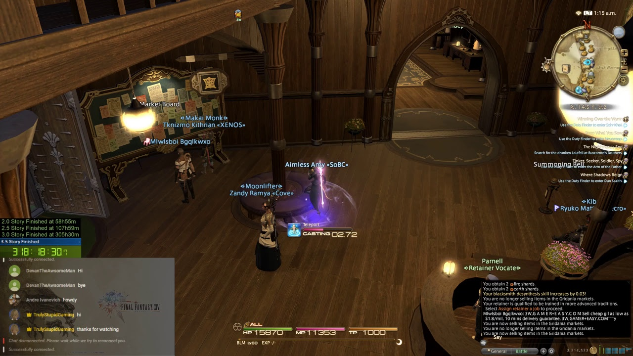 Ffxiv what time does roulette reset selling of space or time slots for advertisement