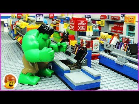 Lego Hulk Shopping Fail