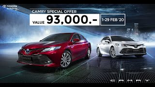 CAMRY : THE MOST VALUABLE OFFER