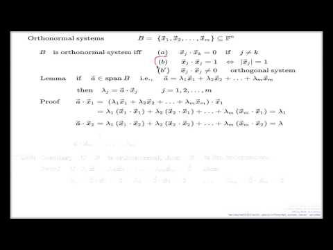 Orthonormal and orthogonal systems of vectors