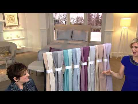 Home Reflections 600TC Easy Care Reversible Sheet Set with Jane Treacy