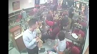 Burger King in istanbul Turkish Fight 360p