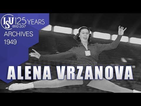 Alena Vrzánová (TCH) - World Championships Paris 1949 - ISU Archives