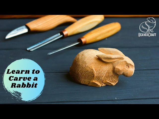 Carving a Rabbit out of Wood - Full Tutorial