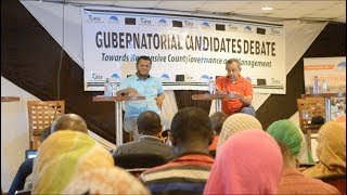 Hassan Omar and Suleiman Shabal face off during gubernatorial debate