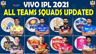 IPL 2021 | All Teams Squads Updated | All Teams Full Players List | CSK RCB MI DC KKR SRH RR PBKS