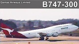 1997年 カンタス航空 - Classic - Qantas B747-300 - Narita International Airport 1997