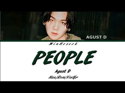 {Han/Rom/Vostfr} AGUST D - PEOPLE (사람) Color Coded Lyrics