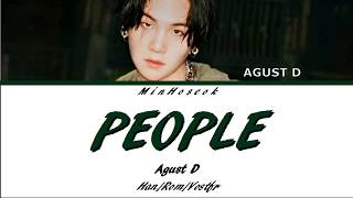 {han/rom/vostfr} Agust D - People  사람  Color Coded Lyrics