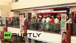 India: Queues form in New Delhi as first Burger King opens