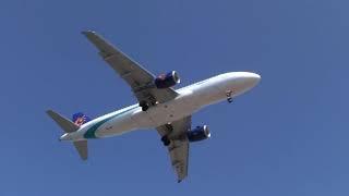 landing airplanes next to Palma de Mallorca Airport (PMi)  - Son Sant Joan Airport [HD]
