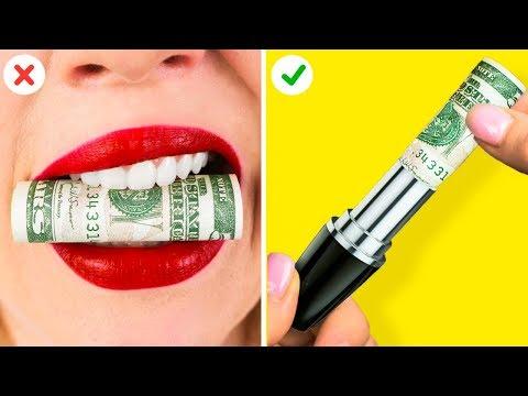 ТОП-10 ГЕНИАЛЬНЫХ ЛАЙФХАКОВ ДЛЯ ДЕВУШЕК || Веселые советы, которые помогут сэкономить!