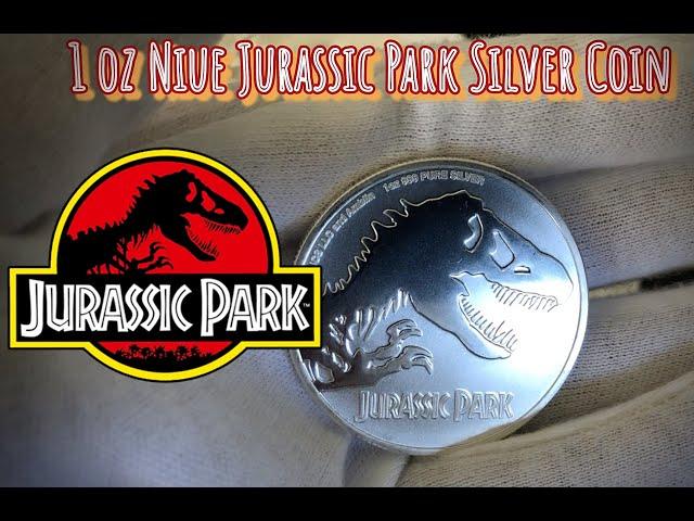 SILVER SPECS-  1 oz Jurassic Park Silver Round
