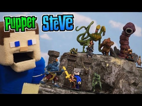 Dungeons and Dragons - Puppet Steve STOP MOTION Battle Pathfinder Miniature Toys Wizkids Unboxing