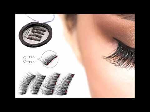 5daac0d90de Triple Magnetic Full Size False Eyelashes Extension Set 4 pieces Handmade 3D  Fake Magnetic Lashes