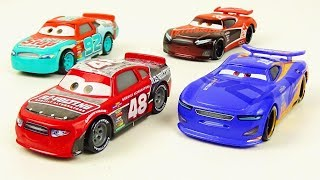 Cars 3 Toys Race to Win 4 pack Unboxing T.G Castlenut Murray Clutchburn Danny Swervez Tim Treadless