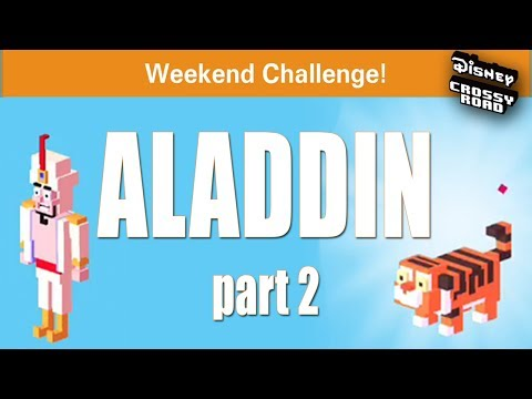 LET'S DO THIS!! - Disney Crossy Road Aladdin Weekend Challenge - Pt. 2