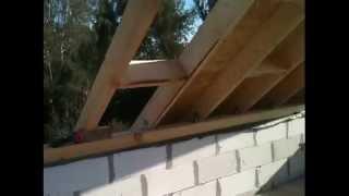 Моя стройка,домик 6х6 из газобетона часть 8,стропильная система