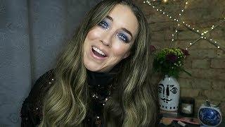 Blue glitter Smokey eye   Party makeup