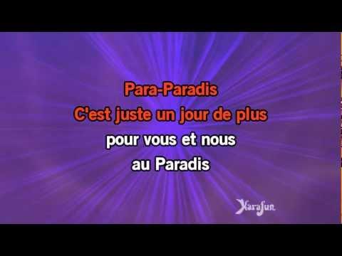 Karaoké Un jour de plus au paradis - Les Enfoirés *