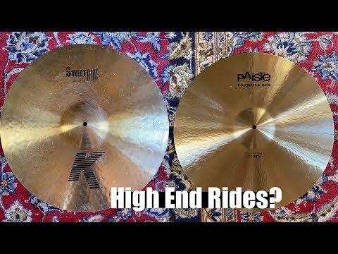 ZILDJIAN vs PAISTE   High End RIDE Shootout! K Sweet vs 602 Modern Essentials