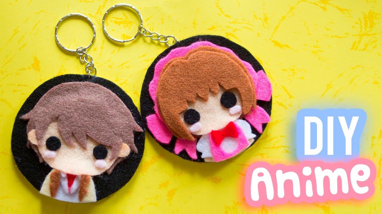Diy anime keychain anime inspired diy gift idea for anime lovers i wear a bow youtube
