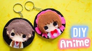 DIY Anime Keychain - Anime Inspired DIY - Gift Idea for Anime Lovers | I Wear A Bow