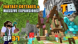 FANTASY COTTAGES and Terraforming fun times! | Truly Bedrock Season 2 [37] Minecraft Bedrock SMP