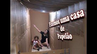 FIZEMOS UMA CASA DE PAPELÃO !! #BOX FORT