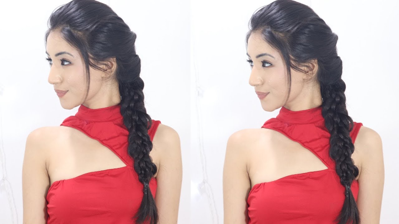 braid hairstyle for indian school & college girls | school braid hairstyle