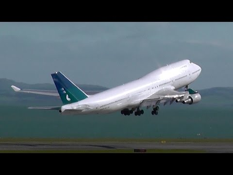 Final Air New Zealand 747 [ZK-NBV] Departure from AKL Oct 2014