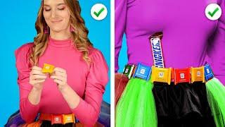 9 Fun Ways to Sneak Candy into a FASHION SHOW! Funny Situations & Food Prank Ideas