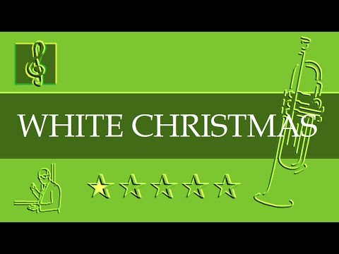 Trumpet Notes Tutorial - Christmas song - White Christmas (Sheet Music)