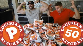 Attempting to eat 50 Popeyes Chicken Sandwhiches with Steve Will Do It!