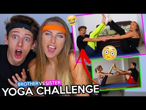 YOGA CHALLENGE WITH MY LITTLE SISTER!!! *GONE WRONG* GeorgeMasonTV