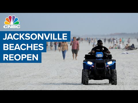 Beaches in Jacksonville, Florida reopen