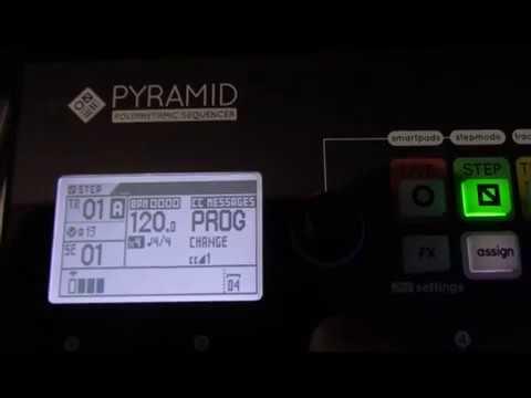 Squarp Pyramid - Sending MIDI CC messages to change sounds