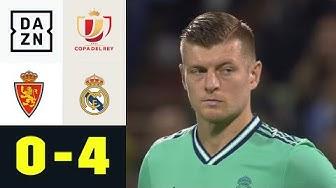 Doppelter Kroos bei souveränem Real-Sieg: Real Saragossa - Real Madrid 0:4 | Copa del Rey | DAZN