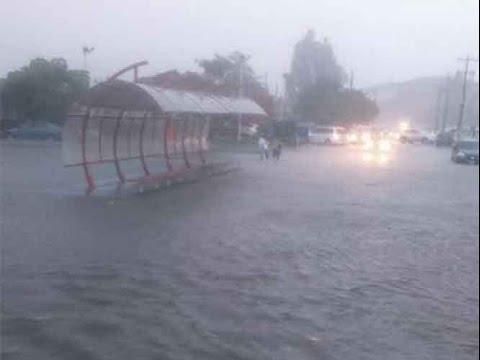 Lluvias torrenciales provocan caos en Tamaulipas Video Tormenta 2016