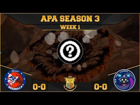 APA Season 3   Week 1   Boston Beedrills versus New York Cosmogs
