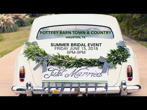 INVITATION : POTTERY BARN TOWN & COUNTRY SUMMER BRIDAL EVENT