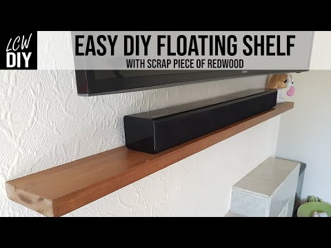 Easy Floating Shelves No brackets using Scrap Redwood/Pine | DIY Vlog #31