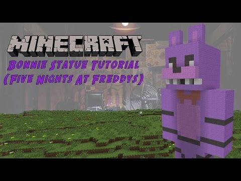 Minecraft Tutorial: Bonnie (Five Nights At Freddy's) Statue