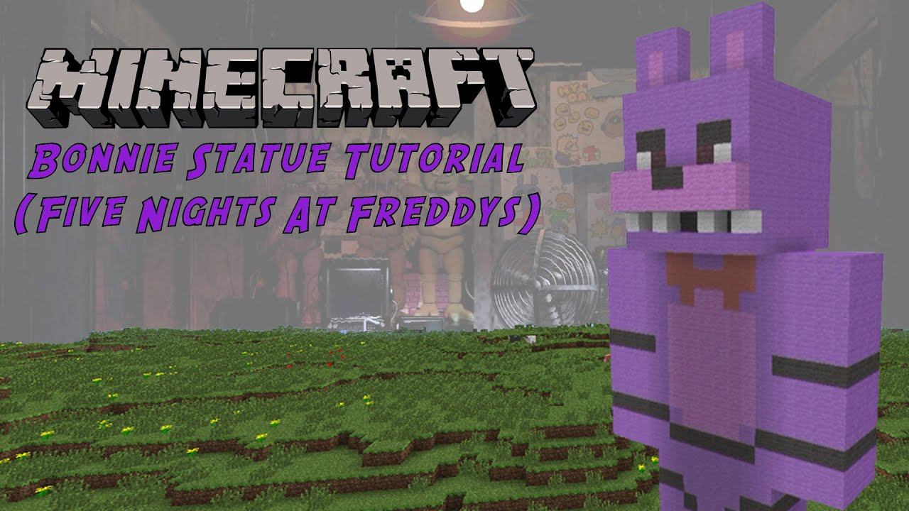 Minecraft Tutorial Bonnie Five Nights At Freddys Statue YouTube