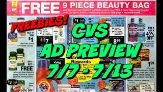 CVS AD PREVIEW (7/7 - 7/13) | FREE PHYSICIANS FORMULA, MOUTHWASH & SPEND $30 GET $10 DEAL!