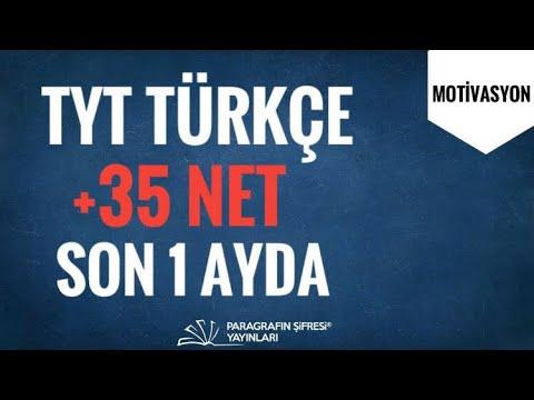 #YKS Son 1 Ayda TÜRKÇE +35 NET !!!